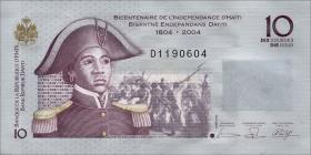 Haiti P.272a 10 Gourdes 2004 (1)