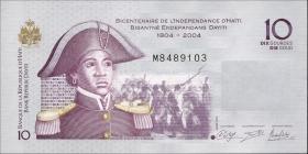 """Haiti P.272f 10 Gourdes 2014 """" 200 Jahre Unabhängigkeit """" (1)"""