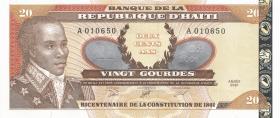 Haiti P.271A 20 Gourdes 2001 (2007) (1)