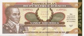 Haiti P.271 20 Gourdes 2001 (1)