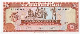Haiti P.246 5 Gourdes 1987 (1)