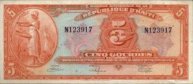 Haiti P.187 5 Gourdes 1919 (2)