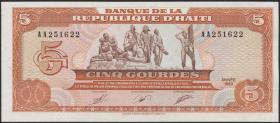Haiti P.255 5 Gourdes 1989 (1)
