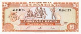 Haiti P.261 5 Gourdes 1992 (1)