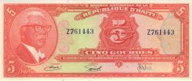 Haiti P.212 5 Gourdes L.1973 (1)