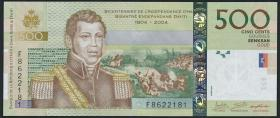 """Haiti P.277f 500 Gourdes 2016 """"200 Jahre Unabhängigkeit"""" (1)"""