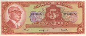 Haiti P.198 5 Gourdes 1919 (1967) (1)