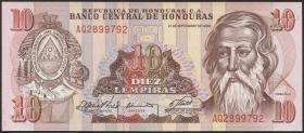 Honduras P.70 10 Lempiras 1989 (1)
