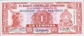 Honduras P.54Ab 1 Lempira 1965 (1)
