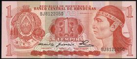 Honduras P.68a 1 Lempira 1980-84 (1)