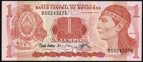 Honduras P.71 1 Lempira 1992 (1)