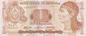 Honduras P.84d 1 Lempiras 2004 (1)