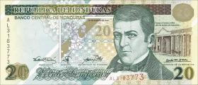 Honduras P.83 20 Lempiras 2000 Gedenkbanknote (1)