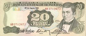 Honduras P.65c 20 Lempiras 1991 (1)