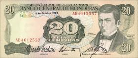 Honduras P.65c 20 Lempiras 1992 (1)
