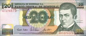 Honduras P.73a 20 Lempiras 1993 (1)