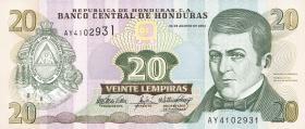 Honduras P.92 20 Lempiras 2004 (1)