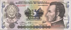 Honduras P.63a 5 Lempiras 1978 (1)