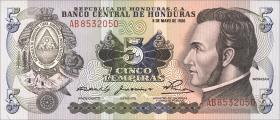 Honduras P.63a 5 Lempiras 1980 (1)