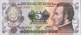 Honduras P.63b 5 Lempiras 1985 (1)