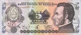 Honduras P.63d 5 Lempiras 1994 (1)