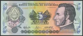 Honduras P.85d 5 Lempiras 2004 (1)