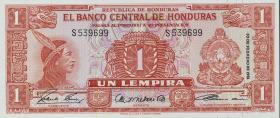 Honduras P.54Aa 1 Lempira 1961 (1)