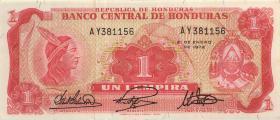 Honduras P.55b 1 Lempira 1972 (1)