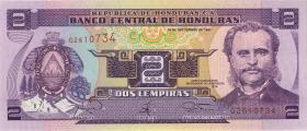 Honduras P.80 2 Lempira 1997 (1)