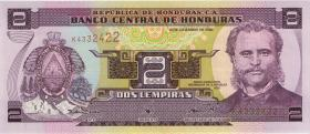 Honduras P.80A 2 Lempiras (1998-2008)) (1)