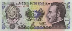 Honduras P.81b 5 Lempiras 1997 (1)