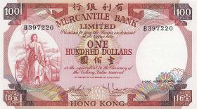 Hongkong, Mercantile Bank P.245 100 Dollars 1974 (1)