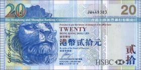 Hongkong, H & K Shanghai Bank P.207c 20 Dollars 2006 (1)