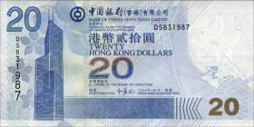 Hongkong, Bank of China P.335c 20 Dollars 2006 (1)