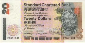 Hongkong, Standard Chartered Bank P.285c 20 Dollars 1999 (1)
