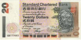 Hongkong, Standard Chartered Bank P.285c 20 Dollars 2001 (1)