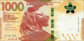 Hongkong, SH.K. & Shanghai Bank P.neu 1000 Dollars 2018 (1)