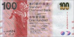 Hongkong, Standard Chartered Bank P.299 100 Dollars 2010