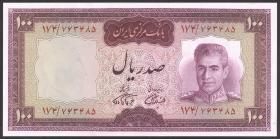 Iran P.086b 100 Rials (1969-71) (1/1-)