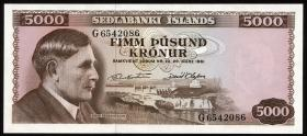Island / Iceland P.47 5000 Kronen 1961 (1)