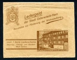 Osterwieck GR.350- 20-100 Mark 1922 Ledergeld Baustein (1) Komplett