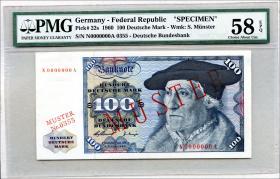 R.266M 100 DM 1960 MUSTER / SPECIMEN (1/1-)