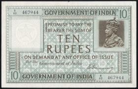 Indien / India P.005b 10 Rupien o.D. Georg V. (3/2)
