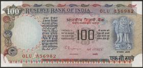 Indien / India P.086g 100 Rupien (1979) (1)
