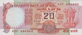 Indien / India P.082h 20 Rupien (ca. ab 1985) (1)