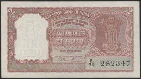 Indien / India P.028 2 Rupien (ca. 1949-57) (1)