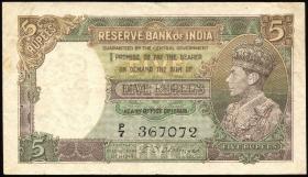 Indien / India P.018b 5 Rupien (1943) (3)