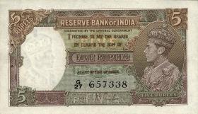 Indien / India P.018a 5 Rupien (1937) (1)