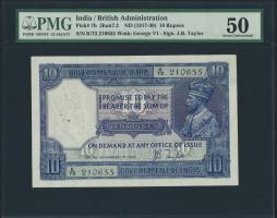 Indien / India P.007b 10 Rupien o.D. Georg V. (1-)