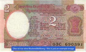 Indien / India P.079j 2 Rupien (1)